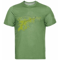 Men's F-DRY PRINT T-Shirt, green eyes - mountain Print SS20, large