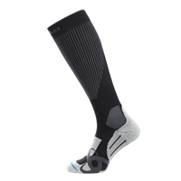 Socks extr, black - odlo graphite grey, large