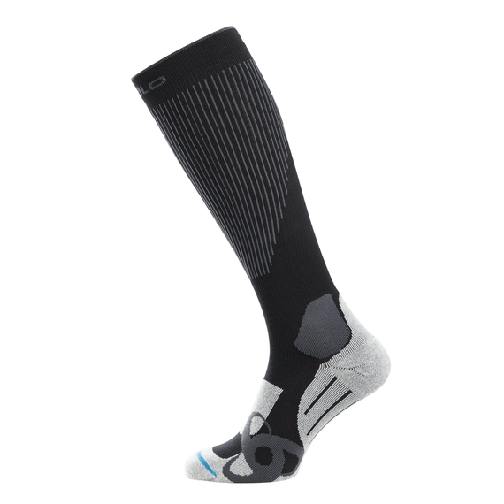 Socks extr, black - odlo graphite grey, large