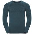 SUW Top Natural + Kinship Warm langärmeliges Oberteil mit Rundhalsausschnitt, blue coral melange, large