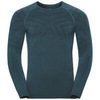 Naadloze onderkleding Top met ronde hals l/m NATURAL + KINSHIP WARM, blue coral melange, large