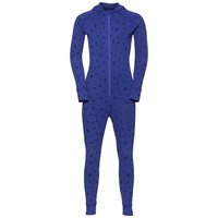 Sous-vêtement technique jumpsuit ACTIVE WARM KIDS, clematis blue - AOP FW19, large