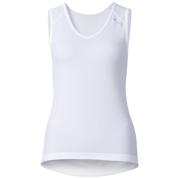 Singlet v-neck CUBIC, white, large