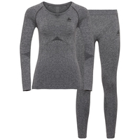 Damen PERFORMANCE EVOLUTION Funktionsunterwäsche Set, grey melange, large