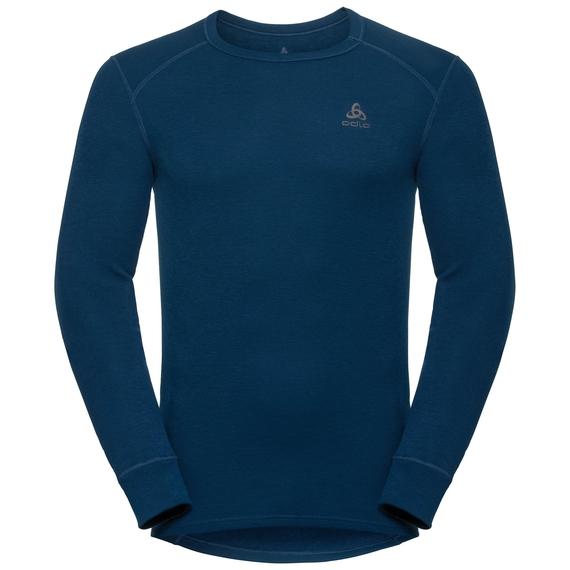 Sous-vêtement technique T-shirt manches longues ACTIVE WARM pour homme, poseidon, large