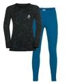 ACTIVE WARM KIDS Set, mykonos blue - black, large