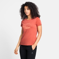 Women's CONCORD ELEMENT T-Shirt, burnt sienna - graphic SS21, large