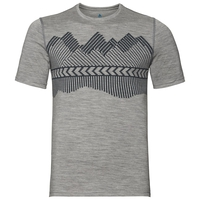 ALLIANCE KINSHIP-T-shirt voor heren, grey melange - placed print FW18, large