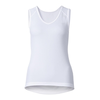 Singlet v-neck CUBIC, white - snow white, large