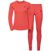 Women's ACTIVE WARM Base Layer Set, hot coral, large