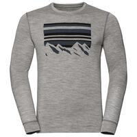 BL Top ALLIANCE langärmeliges Oberteil mit Rundhalsausschnitt, grey melange - placed print FW18, large