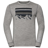 T-shirt à manches longues  ALLIANCE KINSHIP pour homme, grey melange - placed print FW18, large