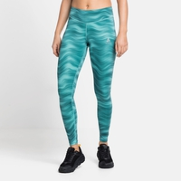 Women's ESSENTIAL SOFT PRINT Running Tights, jaded - graphic SS21, large
