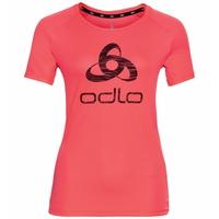 Damen ESSENTIAL PRINT Laufshirt, siesta - odlo logo SS21, large