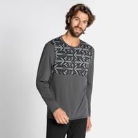 Men's NILLIAN Long-sleeve shirt, odlo graphite grey - graphic FW20, large