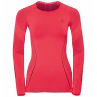 SUW Top PERFORMANCE MUSCLE FORCE Warm langärmeliges Laufoberteil mit Rundhalsausschnitt, diva pink - odyssey gray, large