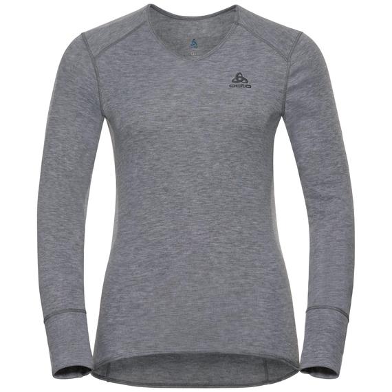 Damen ACTIVE WARM Funktionsunterwäsche Langarm-Shirt, grey melange, large