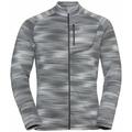 Men's FLI LIGHT PRINT Full-Zip Midlayer, odlo silver grey - graphic SS21, large