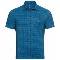 Men's NIKKO Short-Sleeve Shirt, blue aster - diving navy - check, large