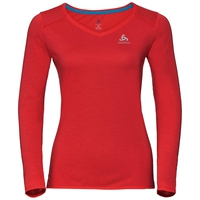 BL TOP Crew neck l/s KUMANO DRY, fiery red, large