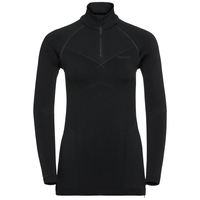 EVOLUTION WARM Baselayer Shirt mit halblangem Reißverschluss, black - odlo graphite grey, large