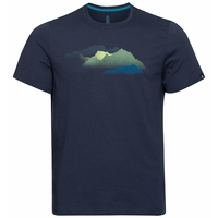 Men's NIKKI PRINT T-Shirt, diving navy - mountain print SS20, large