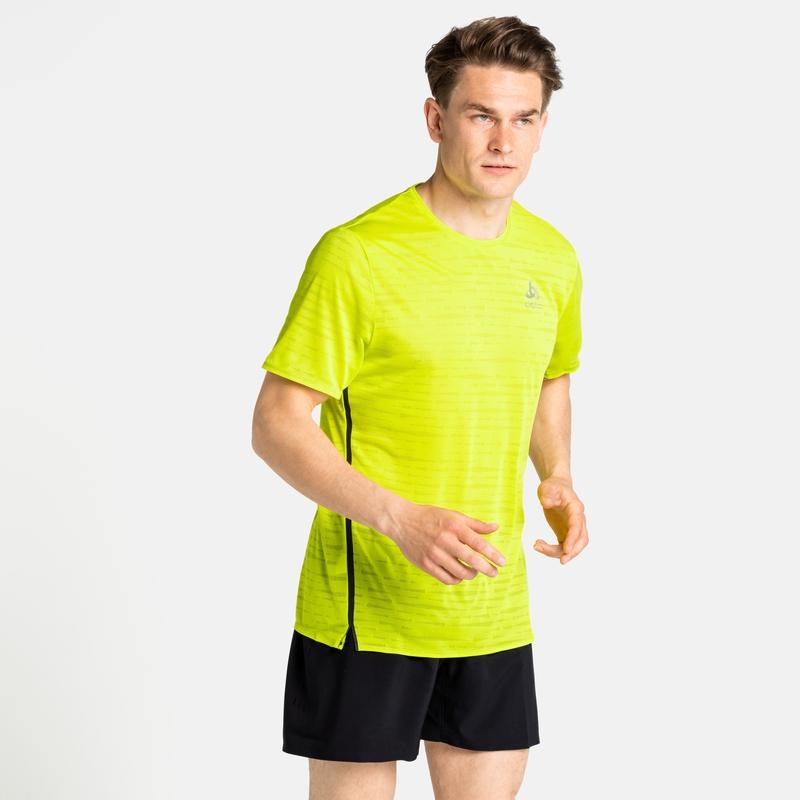 Men's ZEROWEIGHT ENGINEERED CHILL-TEC Running T-shirt, evening primrose melange, large