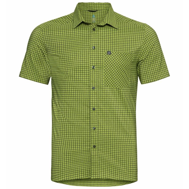 NIKKO-overhemd met korte mouwen voor heren, macaw green - climbing ivy, large