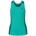 BL Top Crew neck Singlet CERAMICOOL pro, pool green - crystal teal, large