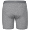 NATURAL 100% MERINO WARM Boxershorts, grey melange - black, large