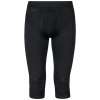 EVOLUTION WARM 3/4 baselayer pants, black - odlo graphite grey, large