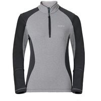 Midlayer 1/2 zip PACT, grey melange - odlo graphite grey, large
