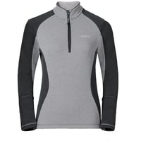 Midlayer 1/2 zip PACT, grey melange - odlo graphite grey, large