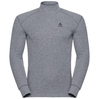 Men's ACTIVE WARM Turtle-Neck Long-Sleeve Base Layer Top, grey melange, large