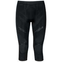 Pants 3/4 PERFORMANCE MUSCLEFORCESkiing Warm, black - odlo graphite grey, large