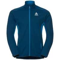 STRYN cross-country softshell jacket, blue opal - mykonos blue, large