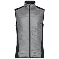 Gilet IRBIS HYBRID SEAMLESS X-WARM, black - odlo concrete grey, large