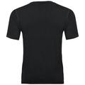 BL TOP NIKKO 100 % MERINO PRINT kurzärmeliges Oberteil mit Rundhalsausschnitt, black with fading stripes print, large