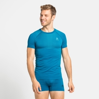 PERFORMANCE LIGHT-basislaag-T-shirt voor heren, mykonos blue - horizon blue, large