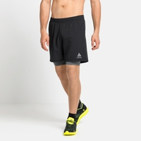 Men's RUN EASY 7 INCH 2-in-1 Shorts, black - grey melange, large