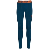 Ceramicool Pro baselayer pants men, blue opal - orangeade, large