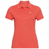 Women's CONCORD Polo shirt, hot coral, large