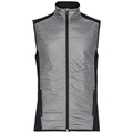 Vest IRBIS HYBRID Seamless X-Warm, black - odlo concrete grey, large
