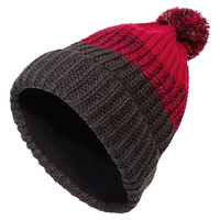 Hat POMPOM KIDS, rose red, large
