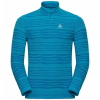 Men's ALBULA 1/2 Zip Midlayer, blue jewel - AOP FW18, large