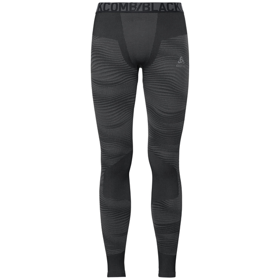 Men's BLACKCOMB Base Layer Pants, black - odlo concrete grey - silver, large