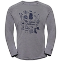 Men's CONCORD Long-Sleeve T-Shirt, grey melange - great outdoors print SS19, large