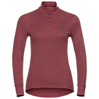 Women's ACTIVE WARM 1/2 Zip Turtle-Neck Long-Sleeve Base Layer Top, roan rouge, large