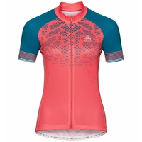 Women's ELEMENT PRINT Short-Sleeve Cycling Jersey, dubarry - crystal teal, large