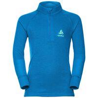WARM Baselayer Shirt with turtle neck, mykonos blue, large